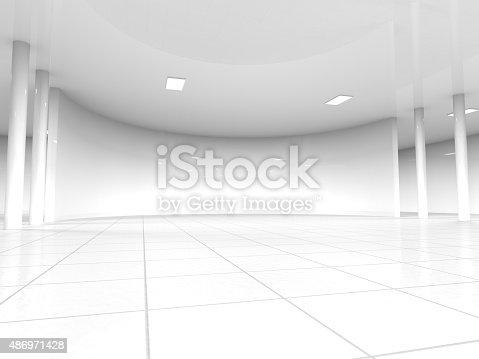 istock empty white open space 3D rendering 486971428