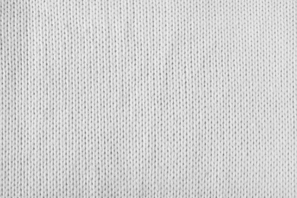 empty white or grey knitted texture - caxemira imagens e fotografias de stock