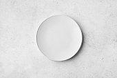 istock Empty white plate 1255612225