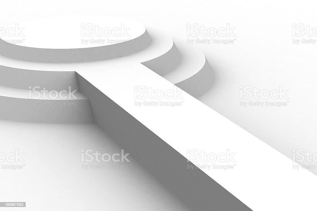 Empty white podium royalty-free stock photo