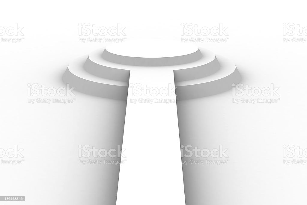 Empty white podium royalty-free stock photo