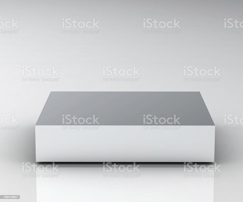 Empty white podium stock photo