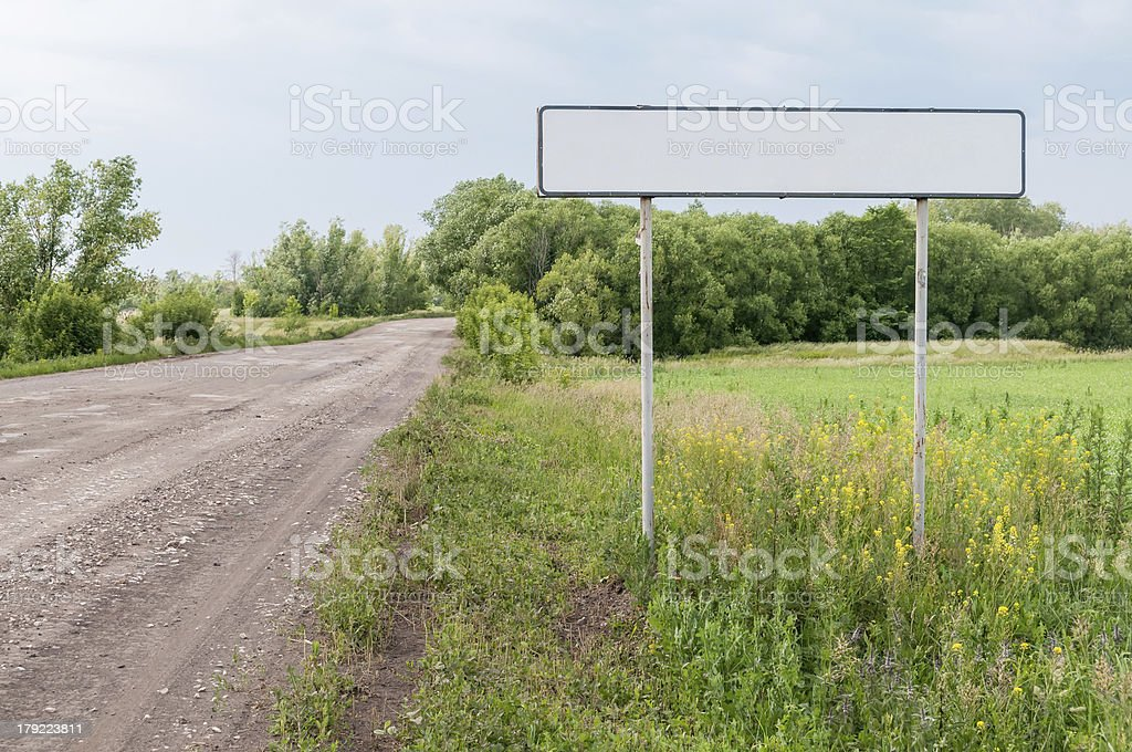 Empty white road sign royalty-free stock photo