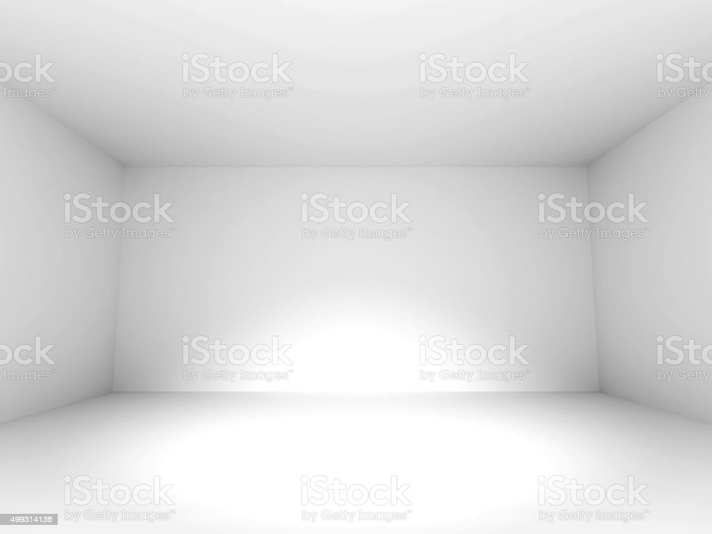 Empty White Room Design Background stock photo