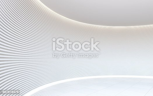 658604764istockphoto Empty white room modern space interior 3d rendering image 652819476