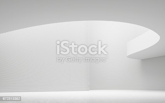 658604764istockphoto Empty white room modern space interior 3d rendering image 672313352