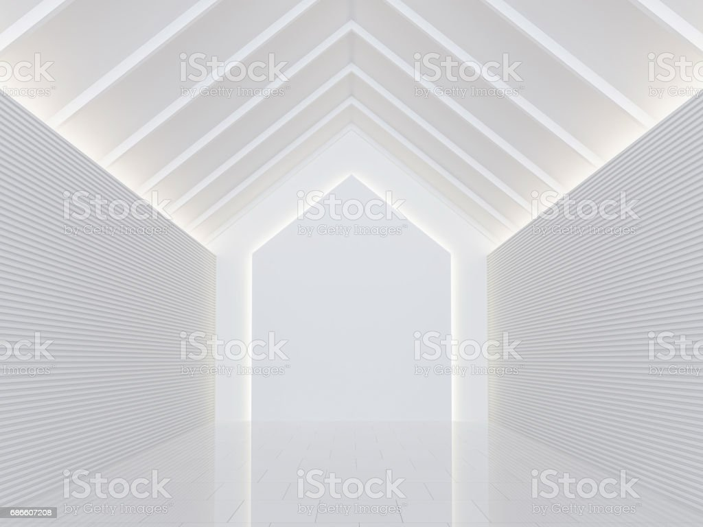 Image de salle blanche vide moderne espace intérieur 3d rendu photo libre de droits