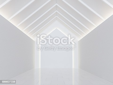658604764istockphoto Empty white room modern space interior 3d rendering image 686607208