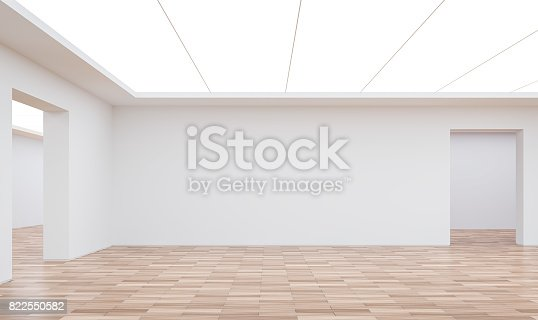 658604764istockphoto Empty white room modern space interior 3d rendering image 822550582