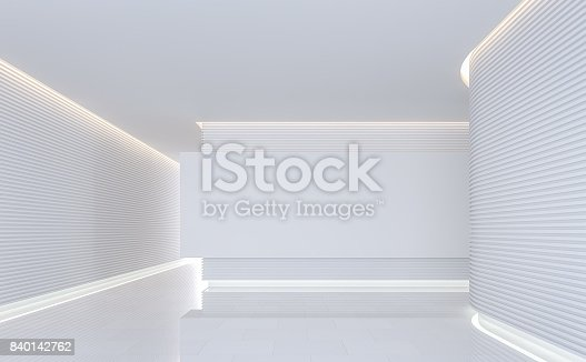 994217090 istock photo Empty white room modern space interior 3d rendering image 840142762