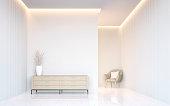 空の白い部屋モダンな空間インテリアの 3 d レンダリング