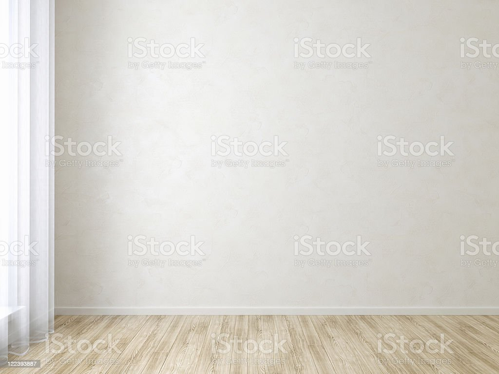 Empty White Room stock photo