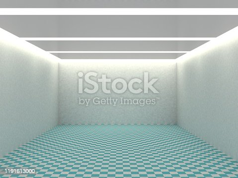 692146256 istock photo Empty white room with lighting 1191613000