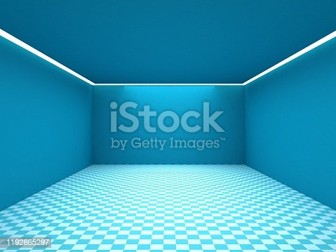 692146256 istock photo Empty white room with lighting 1192665297