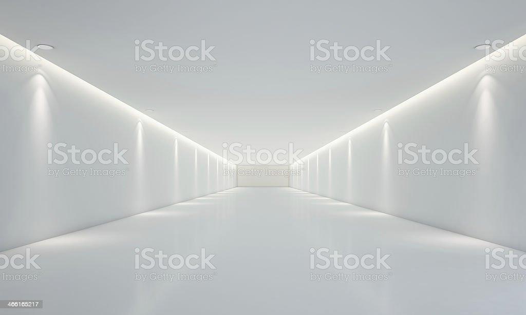 Blanca vacía habitación con iluminación - foto de stock