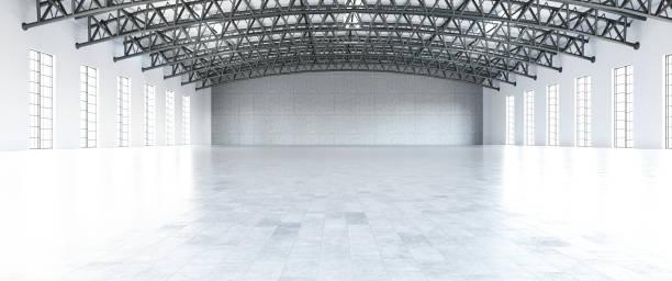 Empty White Storage stock photo