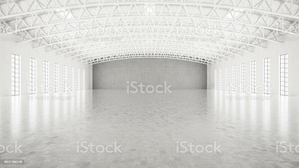 Almacenamiento blanco vacío - foto de stock