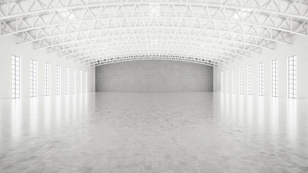 Empty White Storage stock photo