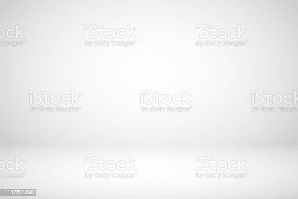 Photo of Empty white studio room abstract background