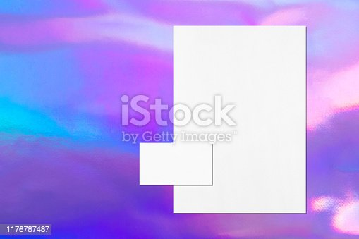 1139340462 istock photo empty white vertical poster and horizontal rectangle business card mockups 1176787487