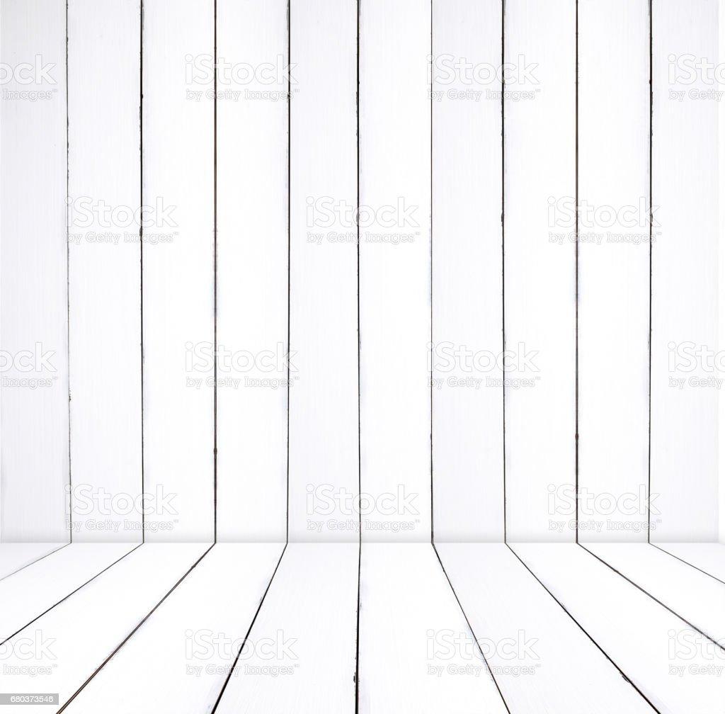 Empty White Wooden Room In Perspective Interior Design