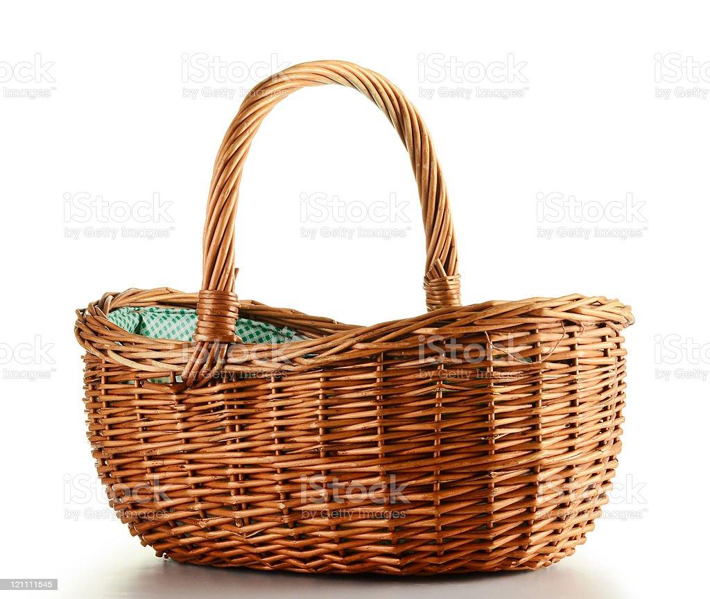Vazio cesta de vime - foto de acervo