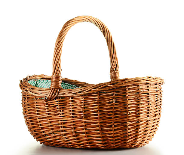 Empty wicker basket Empty wicker basket wicker stock pictures, royalty-free photos & images