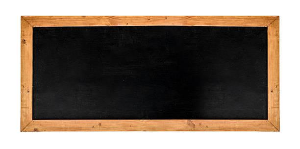Leere große Tafel mit Holz-Rahmen – Foto