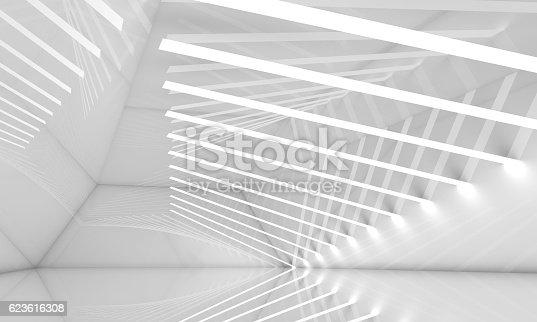 478919130istockphoto Empty wide white interior, 3 d 623616308