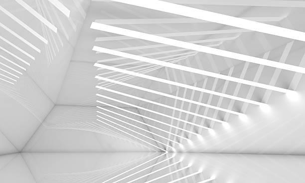 empty wide white interior, 3 d - raumideen stock-fotos und bilder