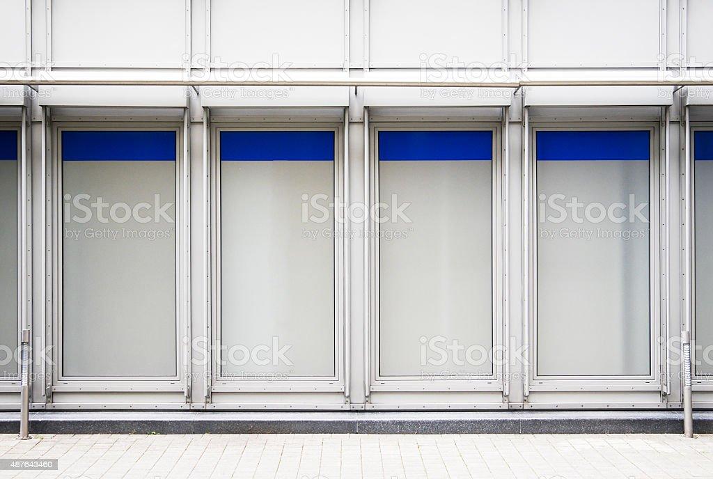 empty window displays stock photo