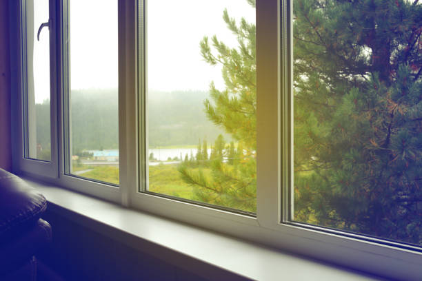 empty window sill - symmetry stock pictures, royalty-free photos & images