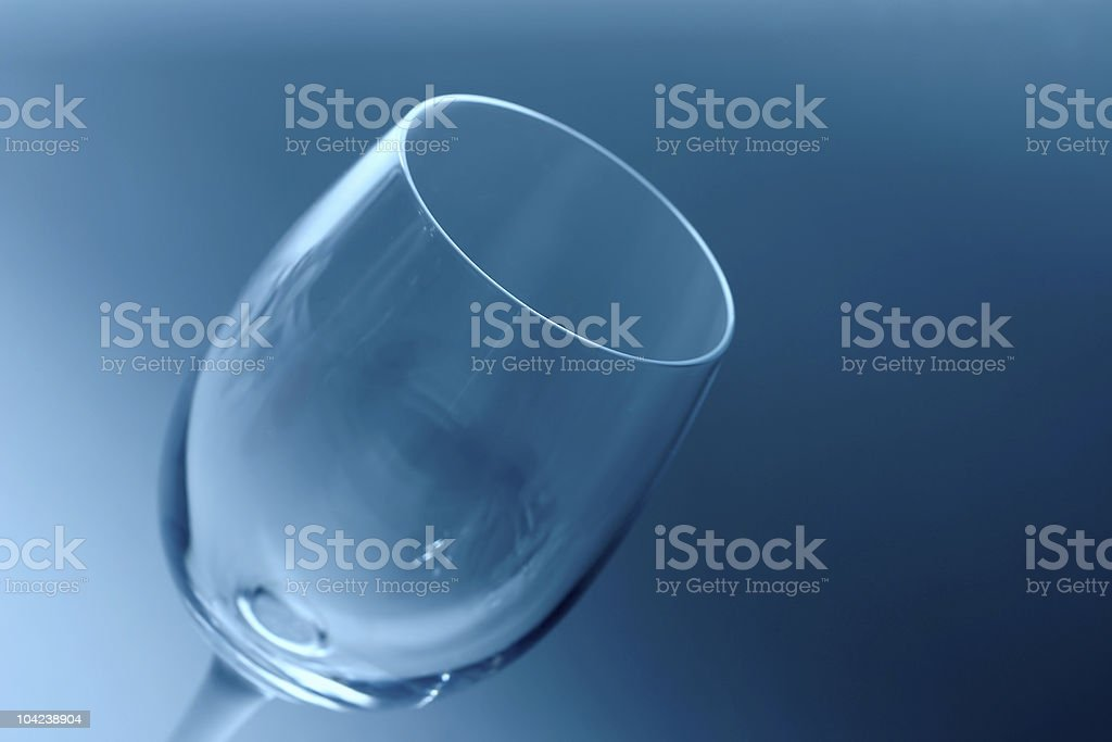 Empty Wine Glass Detail royalty-free stock photo