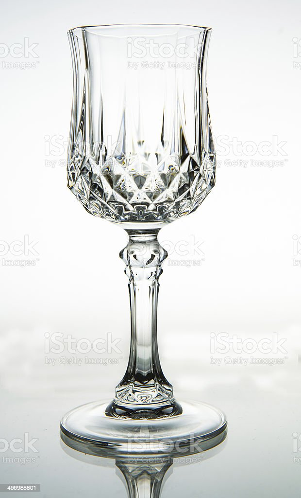 Empty wine glass. isolated on a white background royalty-free stock photo