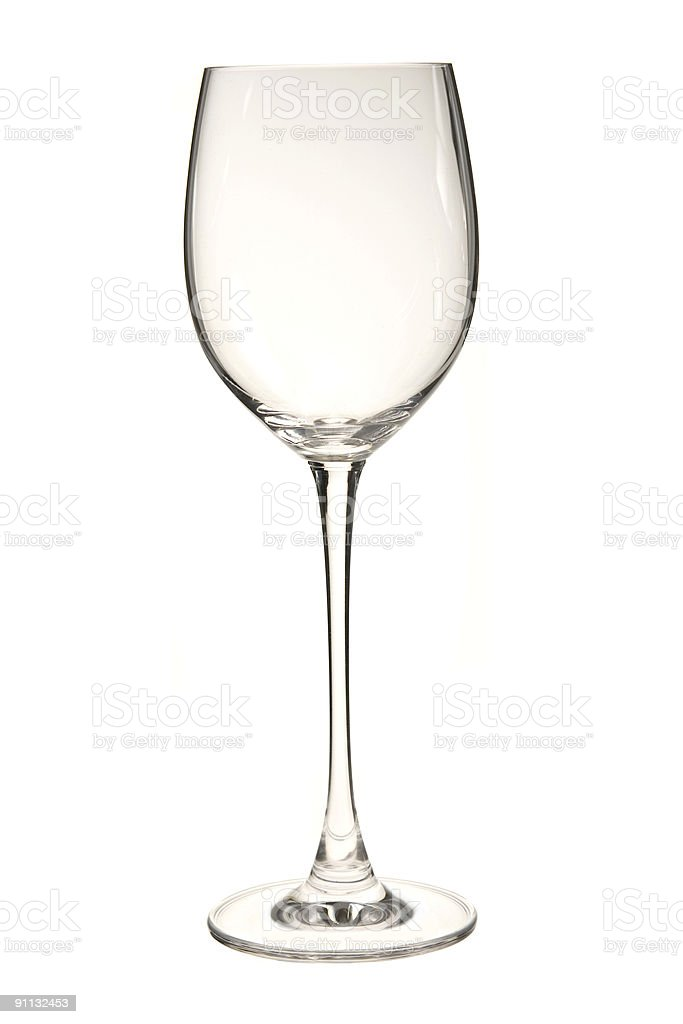 Empty wine glass isolated on white royalty-free stock photo