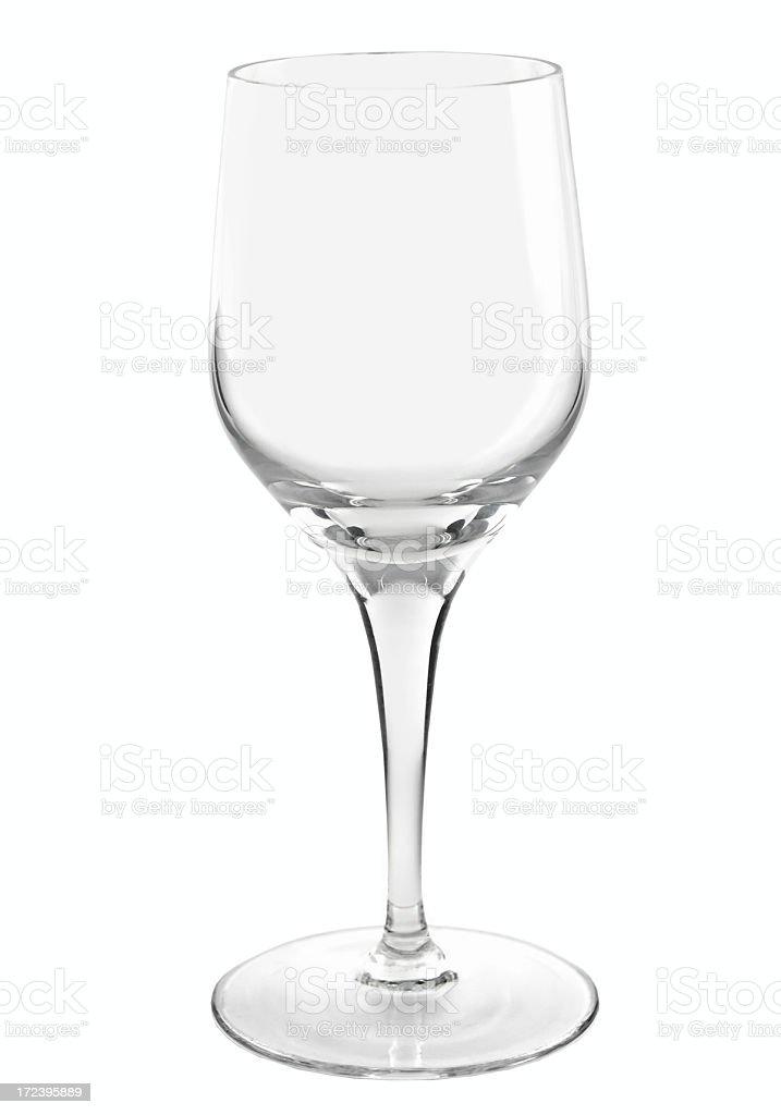 Empty wine glass royalty-free stock photo