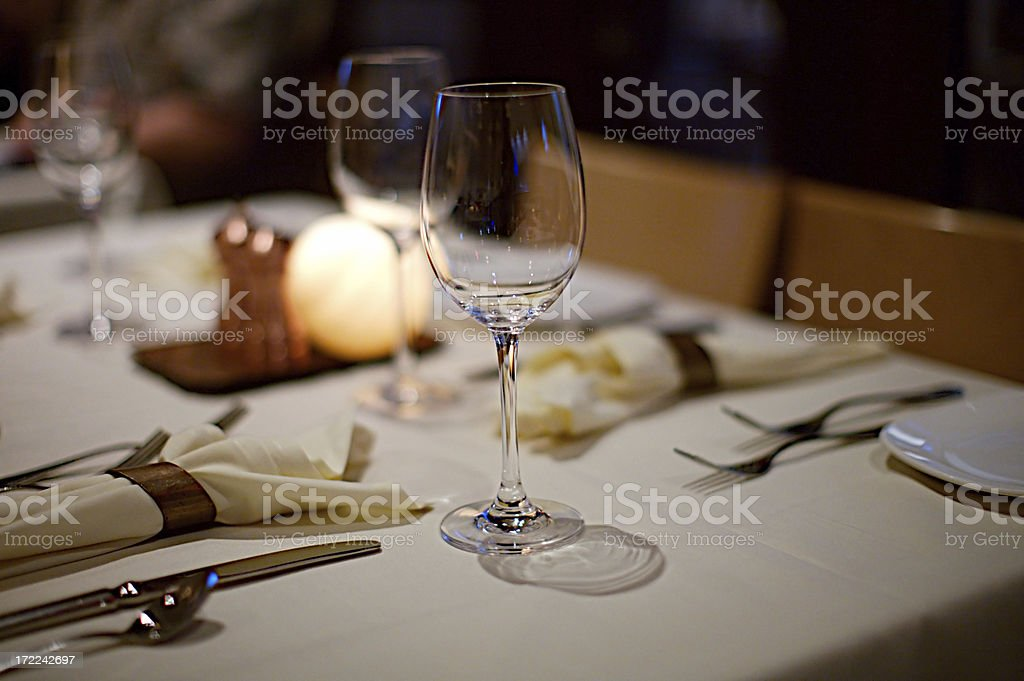 Empty Wineglass royalty-free stock photo