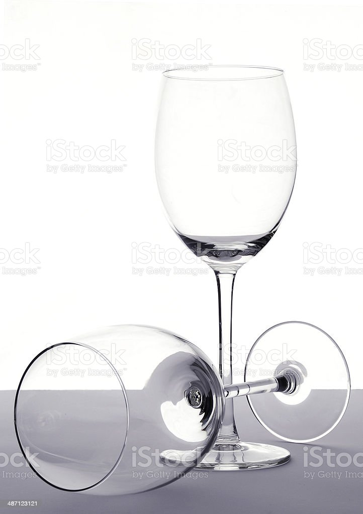 empty wineglasses stock photo