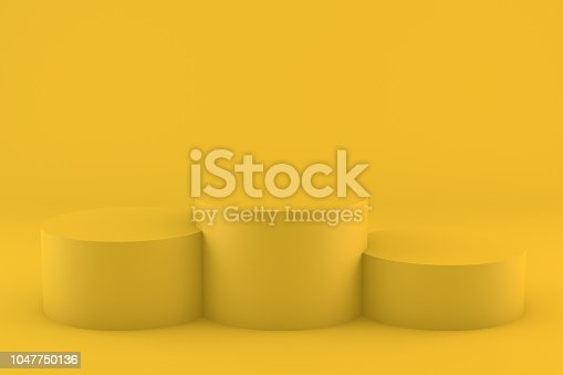 istock Empty Winner Podium, Pedestal, Showcase 1047750136