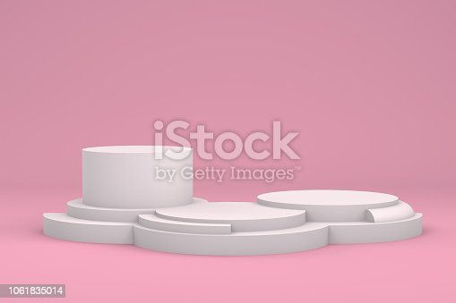 istock Empty Winner Podium, Pedestal, Showcase 1061835014