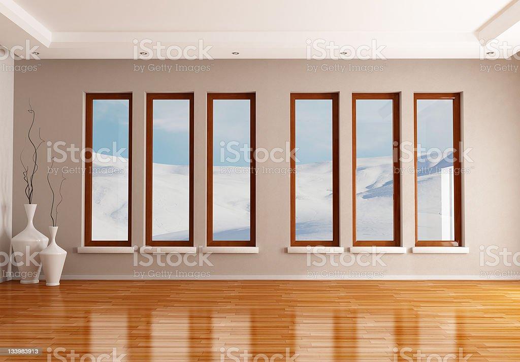 empty winter interior royalty-free stock photo