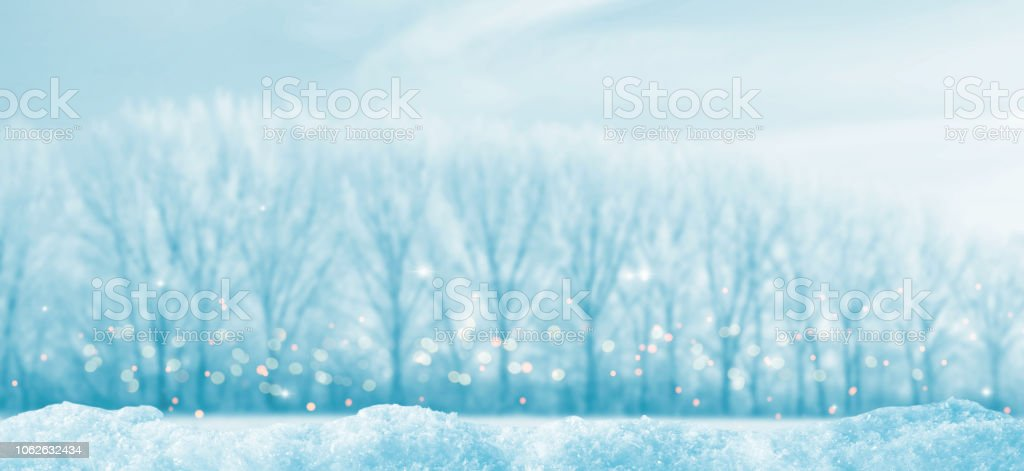 empty winter landscape panorama stock photo
