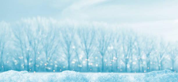leere landschaft winterpanorama - blues stock-fotos und bilder