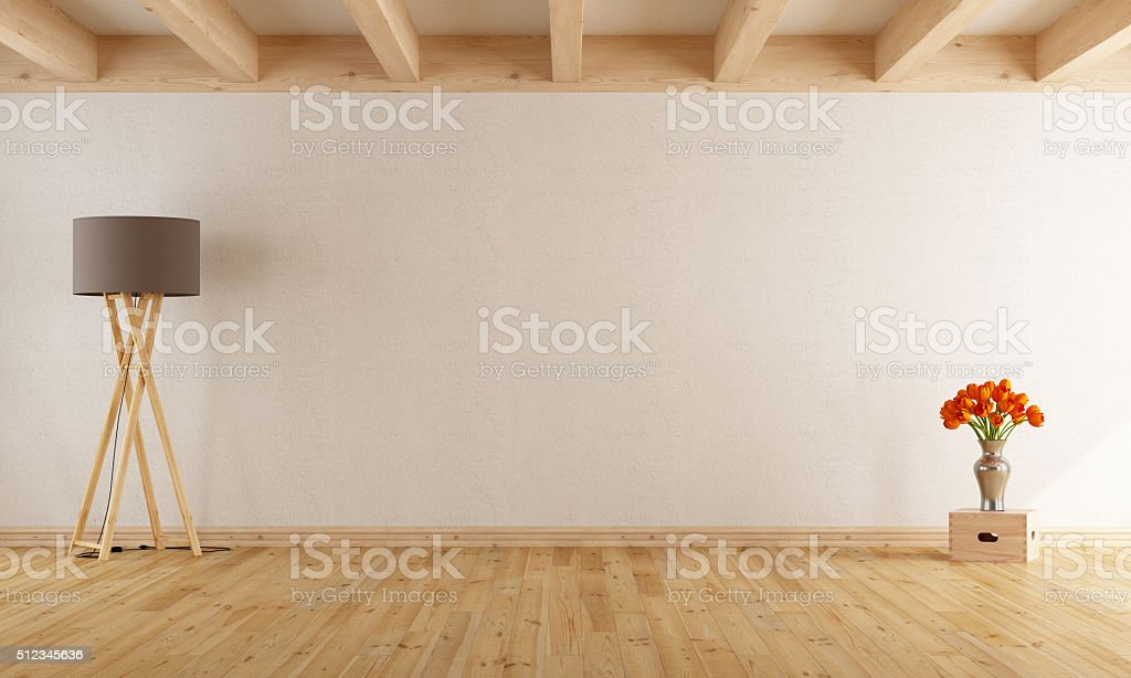 Empty withe room stock photo