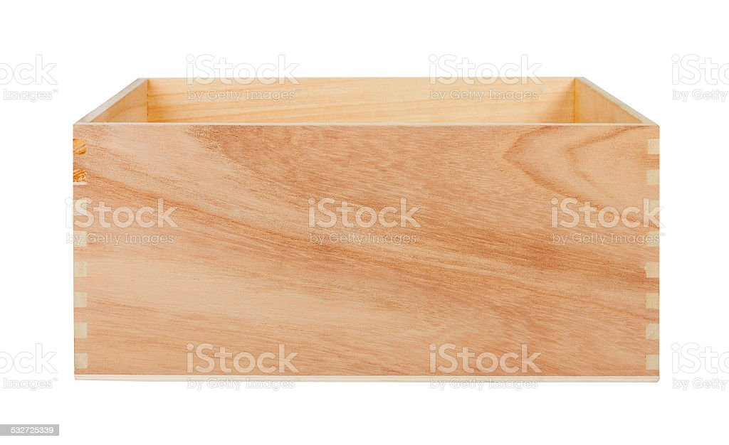 Empty Wood Box stock photo