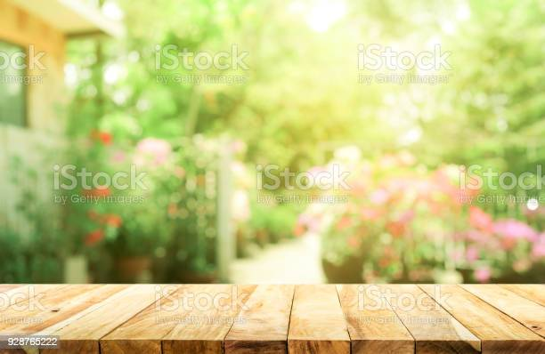 Empty wood table top on blur abstract green from garden and house picture id928765222?b=1&k=6&m=928765222&s=612x612&h=gp g2gll1crgjz8qxb7w3kshpkklioe ejgy8wgl6pa=
