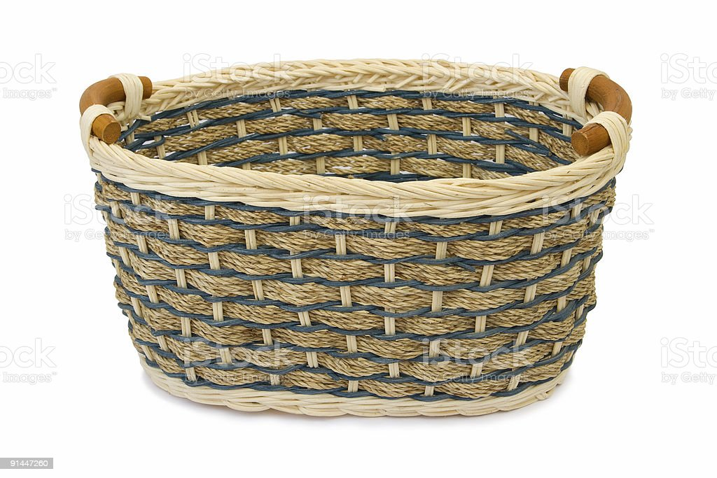 Empty wooden basket royalty-free stock photo