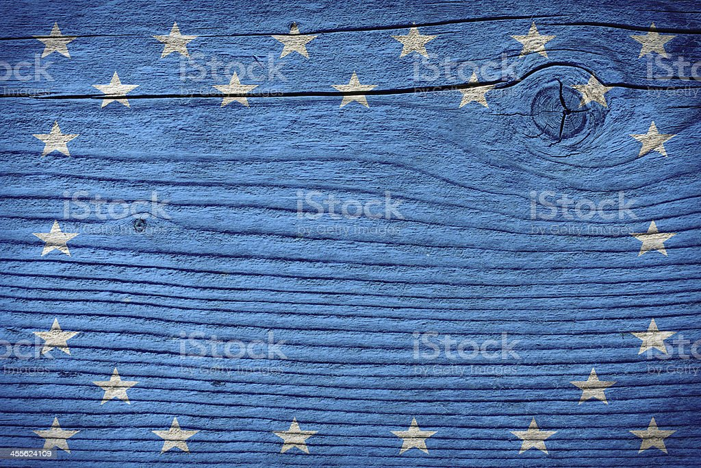 empty wooden board with american flag colors stock photo