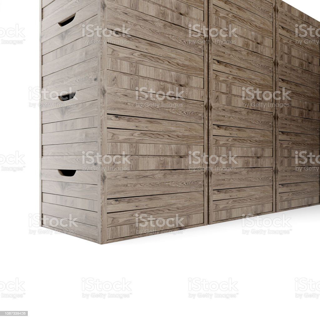 Empty Wooden Boxes