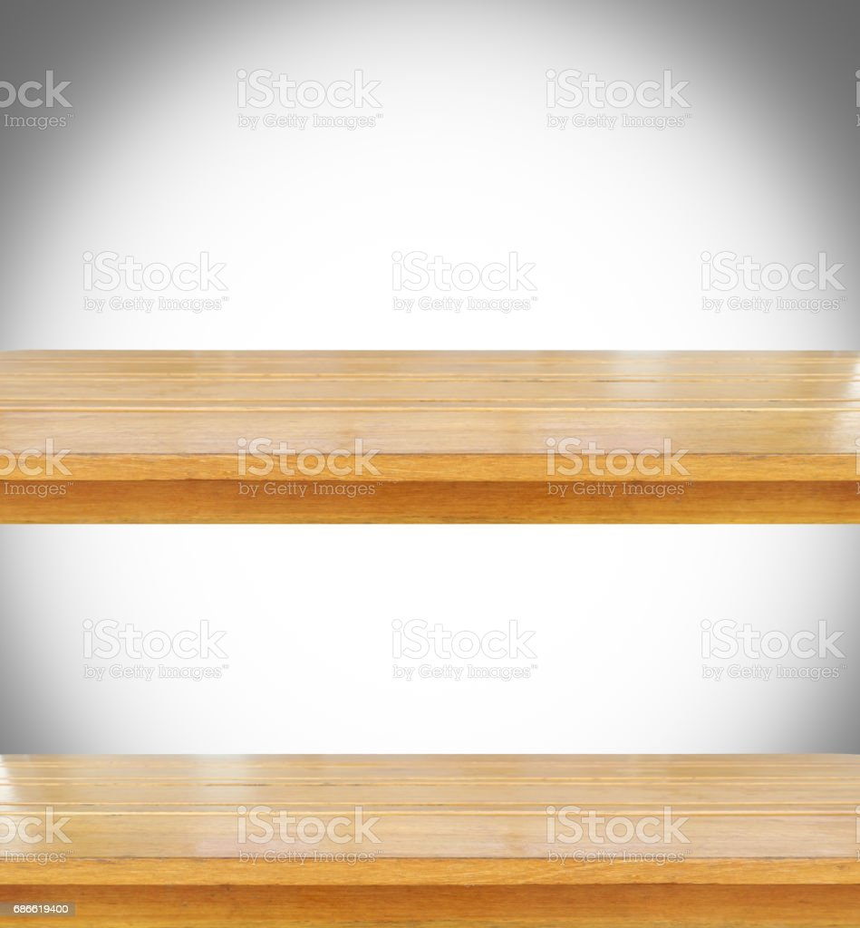 Empty wooden for put products or something royalty-free stock photo